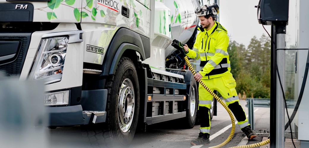 Elektryczne ciężarówki marki Volvo